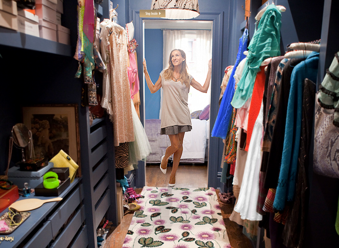 carries closet from sex and the city in Independence