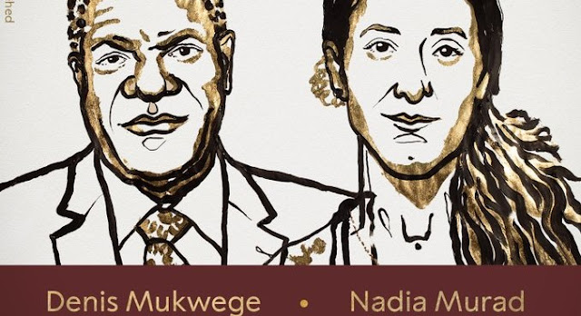 Nobel Peace Prize for 2018 Awarded to Denis Mukwege and Nadia Murad