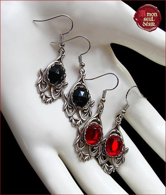 boucles d oreilles medievales et gothiques