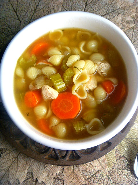 Instant Pot:  Homemade Chicken Noodle Soup - Hot hearty soup bursting with comforting flavors and it's all homemade in under and hour! - Slice of Southern