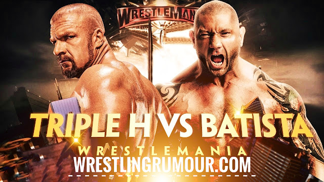 Batista comes face-to-face with Triple H (massive brawl)