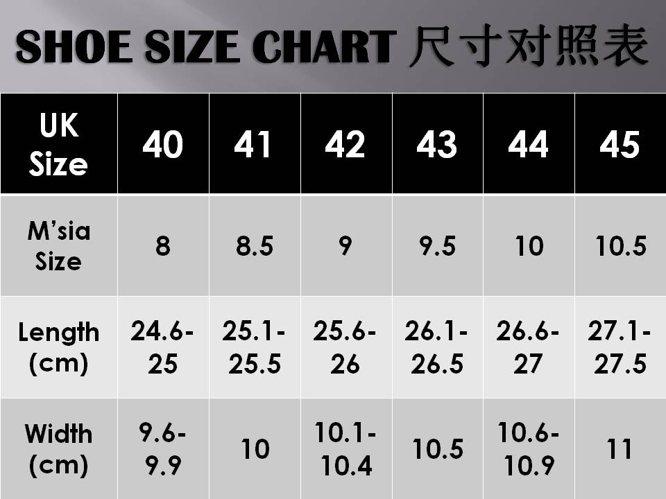 Size  Shoes In Cm Japan