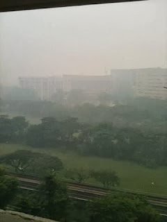 Hazy day in Singapore, 2013