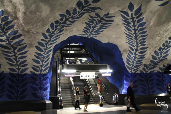 Cómo visitar las estaciones más bonitas del metro de #Estocolmo cuando no tienes mucho tiempo (y con un único ticket)