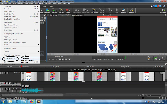 Registrasi Serial Key Videopad 6.24