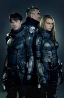 Dane DeHaan, Luc Besson and Cara Delevingne in Valerian and the City of a Thousand Planets (17)