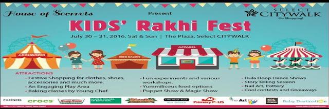 Noida Diary: Kids Rakhi Fest at Select City Walk