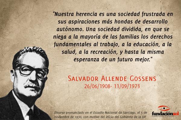 Frase de Salvador Allende