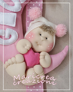Fiocco nascita bimba rosa
