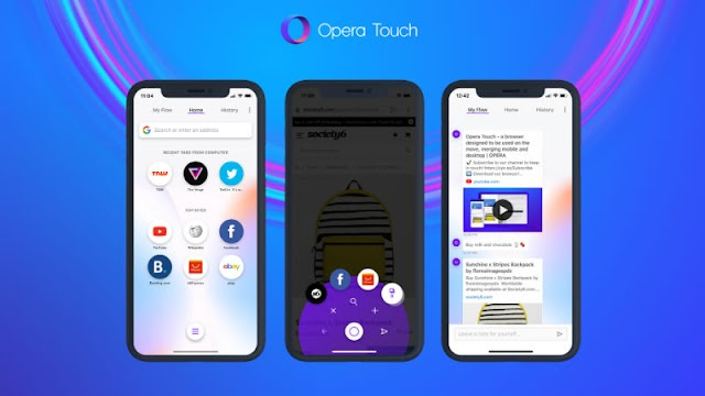 Opera Touch browser with inbuilt advertising blocker is currently there for iOS