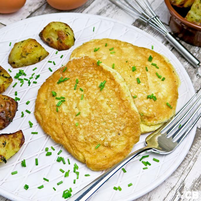 Schnitzels in een jasje van luchtige schuimomelet: omeletschnitzels