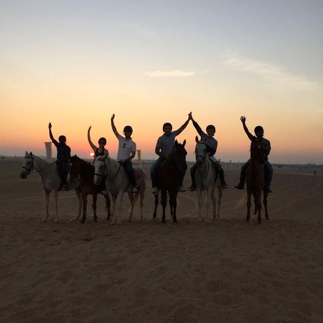 dubai desert horse ride