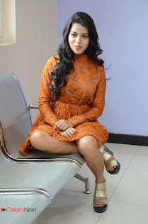 Actress Bhavya Sri Stills in Lace Gown at Kali Movie Audio Launch  0073