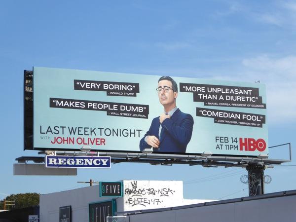 Last Week Tonight John Oliver season 3 HBO billboard