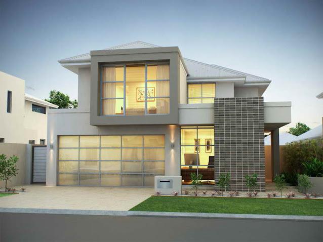 Kombinasi warna cat depan rumah minimalis