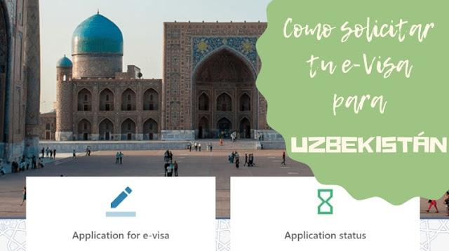 e-visa para uzbekistan asia central