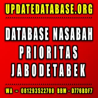 Jual Database Nasabah Jabodetabek