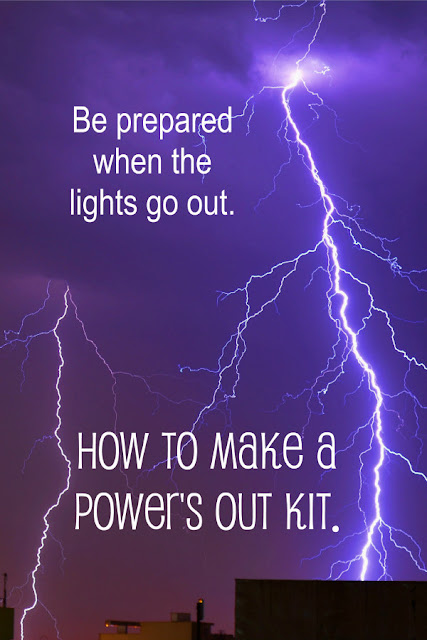 "The electricity just went out again. What are you going to make for dinner? Here's how to make a ""power's out kit"" with 3 days' worth of easy-to-prepare food."