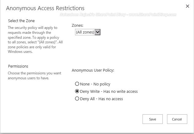 sharepoint 2013 manage anonymous access