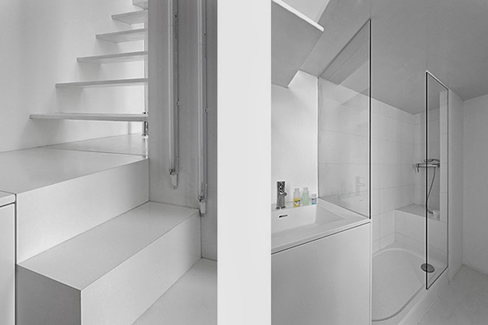 06-Stair-and-Shower-Detail-Betillon-Dorval‐Bory-Architecture-Micro-French-Renovation-Flat-20m²-www-designstack-co