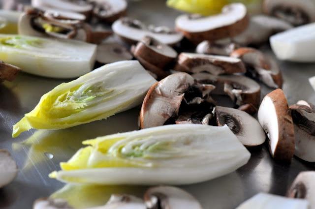 Belgian Endive and Sliced Cremini Mushrooms | Taste As You Go