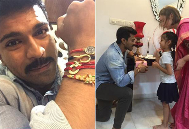 Pawan Kalyan's Daughter Polena Tied Rakhi To Ram Charan