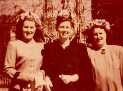 Tess, Estelle, and Sophie. The Karvoius Girls. Probably Easter, Elizabeth, NJ. Late 1940's to early 1950's?