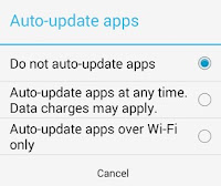 Stop Apps Auto Updating