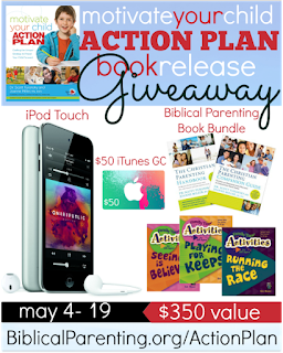 Motivate Your Child Action Plan Book Release Giveaway