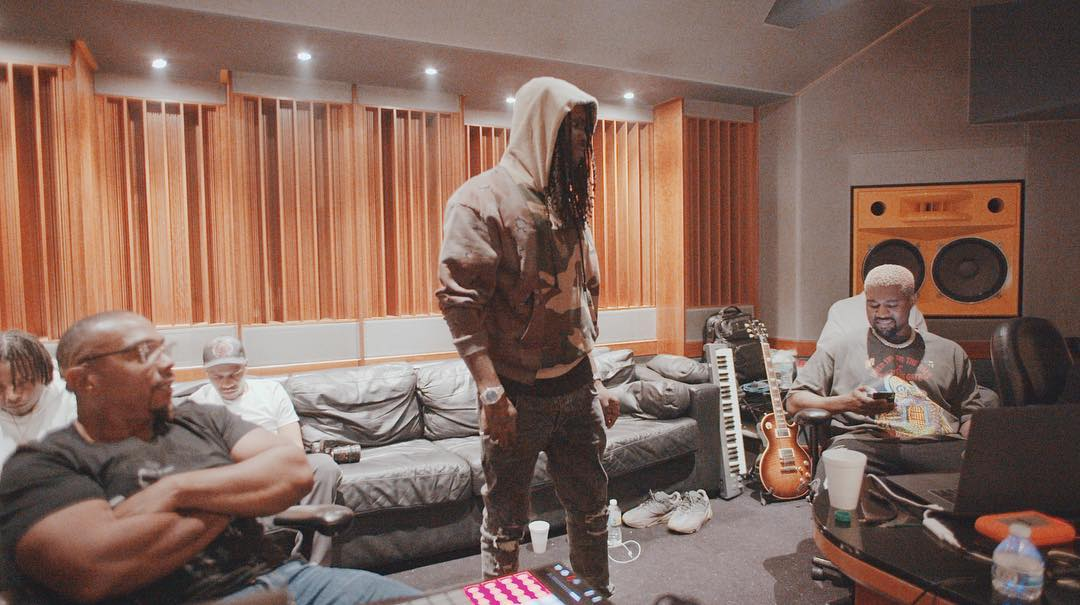Timbaland with Kanye West, YNW Melly & Chief Keef in the Studio