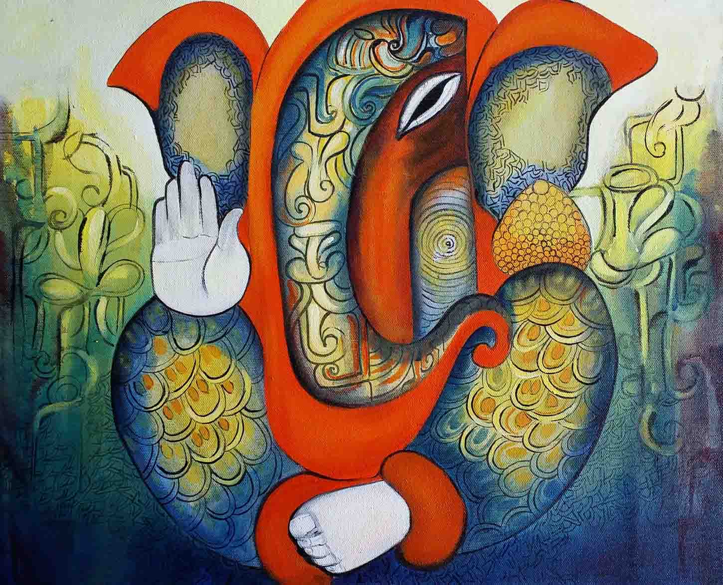 ganesha paintings modern art - photo #39