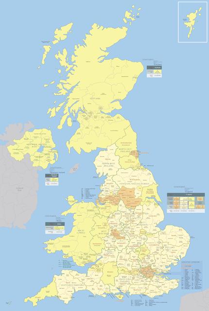 Pembagian wilayah administratif Britania Raya