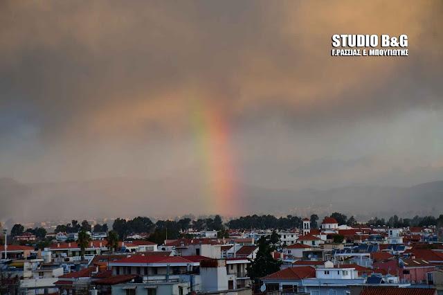 Ουράνιο τόξο στο Ναύπλιο μετά τους καταστροφικούς ανέμους