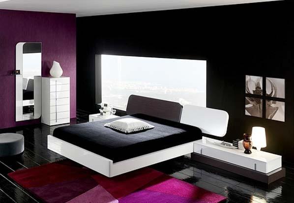 innenarchitektur design schlafzimmer schwarz wei. Black Bedroom Furniture Sets. Home Design Ideas