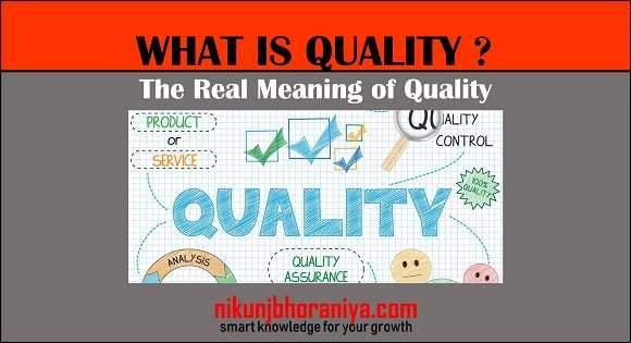 What is Quality? | The Real Meaning of Quality | Eight Dimensions of Quality