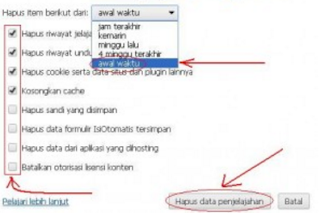 Cara Menghapus History Di Browser