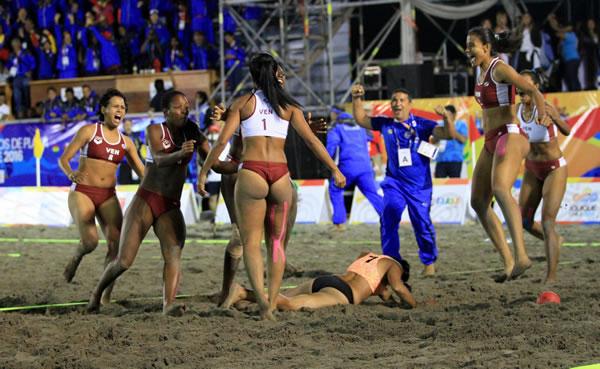 Venezuela campeón en handball Juegos Bolivarianos Playa