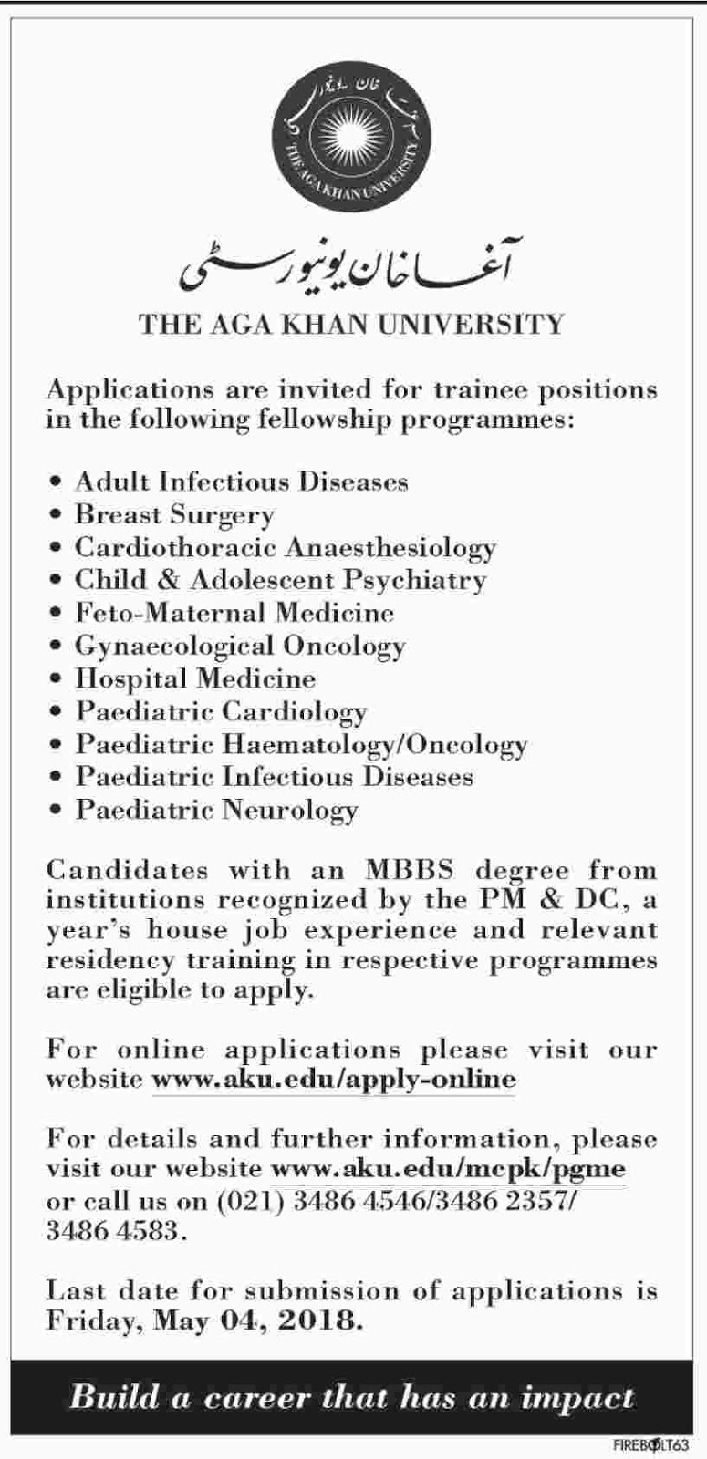 PGME 2018, Jobs in Karachi, Jobs in Sindh, PG Trainee Medical, Medical Fellowship