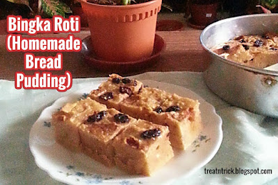 Bingka Roti (Homemade Bread Pudding) Recipe @ treatntrick.blogspot.comB