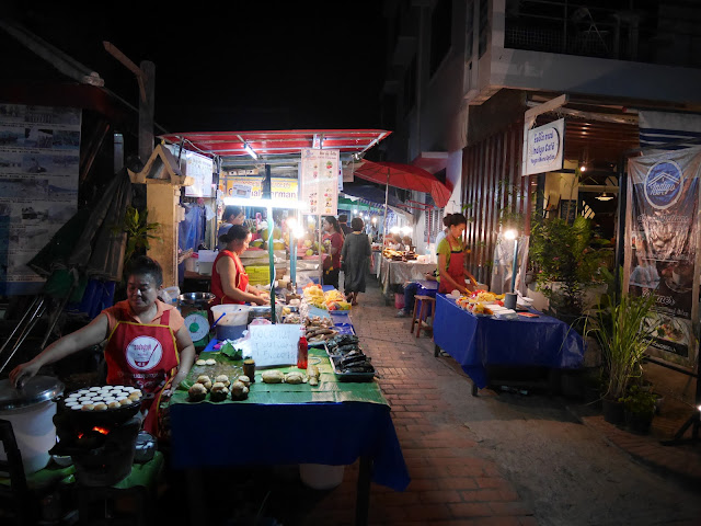 the entrance to the Luang Prabang Night Market - next to the Indigo House Hotel