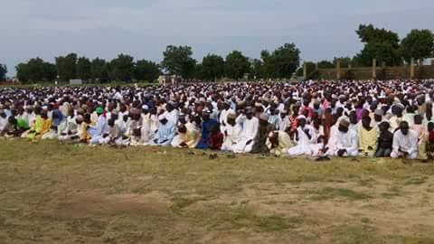 Gwoza residents hold Eid prayers, first time in 3 years