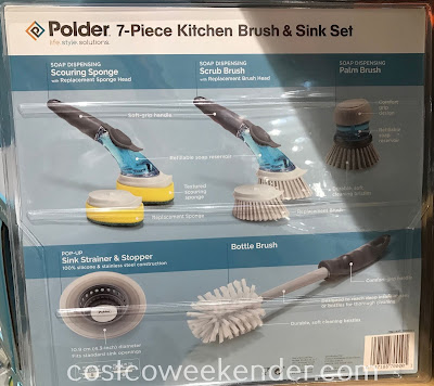 Costco 1050071 - Polder 7-piece Kitchen Brush & Sink Set: great for any kitchen
