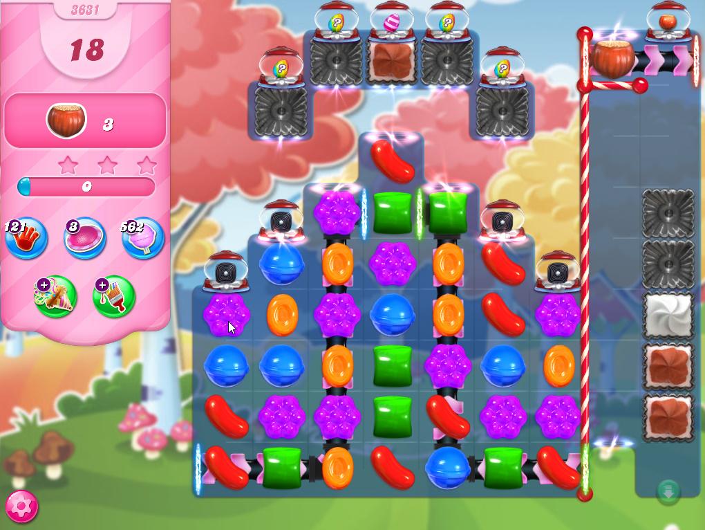 Candy Crush Saga level 3631