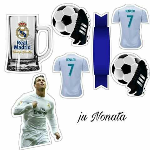 Cristiano Ronaldo: Toppers para Tartas, Tortas, Pasteles, Bizcochos o Cakes para Imprimir Gratis.