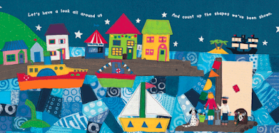 Book Illustration: Ship Shapes l Barefoot Books-LadyD