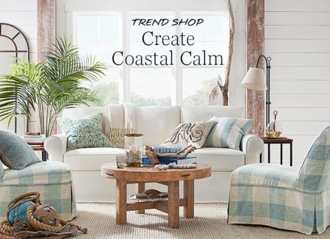 Coastal Calm Living Room Decorating Ideas
