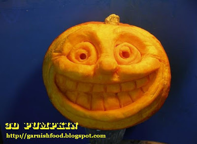 3D pumpkin face