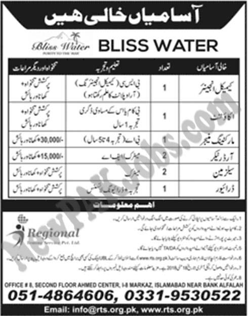 bliss-water-jobs-newpakjobs