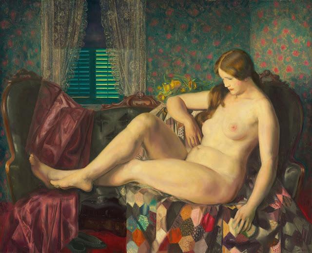George Wesley Bellows - Обнаженная с одеялом