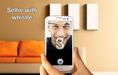 Whistle and take Selfies app on Android Google play store